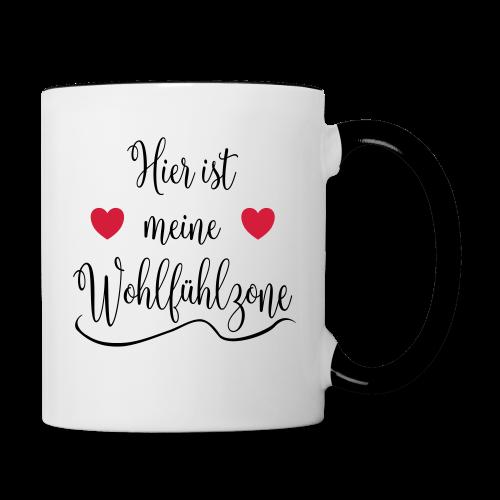Wohlfühlzone Geschenk Tasse - Tasse zweifarbig