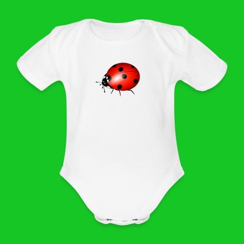 Lieveheersbeestje rompertje - Baby bio-rompertje met korte mouwen