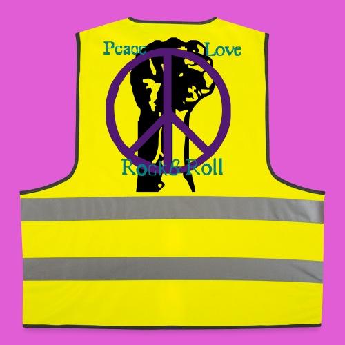 gilet jaune: Peace Love and Rock&Roll - Gilet de sécurité
