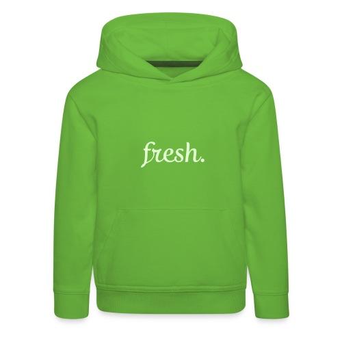 fresh. *leuchtend* - Kinder Premium Hoodie