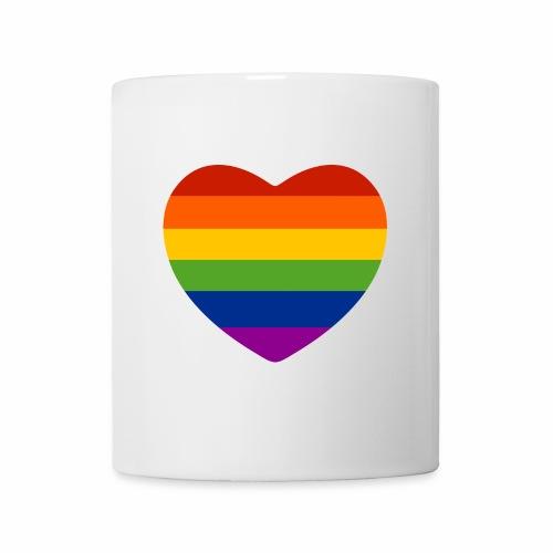 Regenbogen-Herz Tasse - Tasse