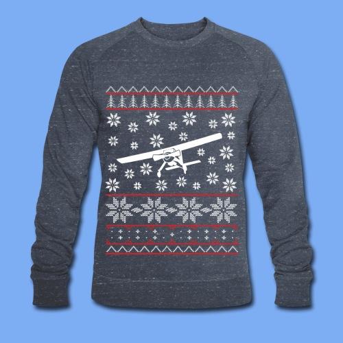 ugly chrismas wilga Flugzeug Pilot Weihnachten ul - Men's Organic Sweatshirt by Stanley & Stella