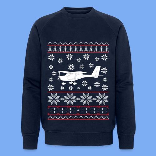 ugly chrismas a22 Flugzeug Pilot Weihnachten ul - Men's Organic Sweatshirt by Stanley & Stella