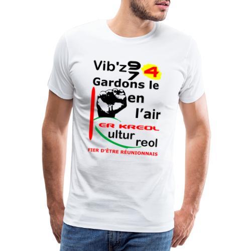 T-shirt Premium Homme Vib'z 974 - T-shirt Premium Homme