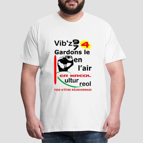 T-shirt Premium Homme 974 ker kreol Vib'z 974 - T-shirt Premium Homme
