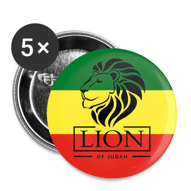 Lion of Judah - Reggae Roots Rasta - Buttons