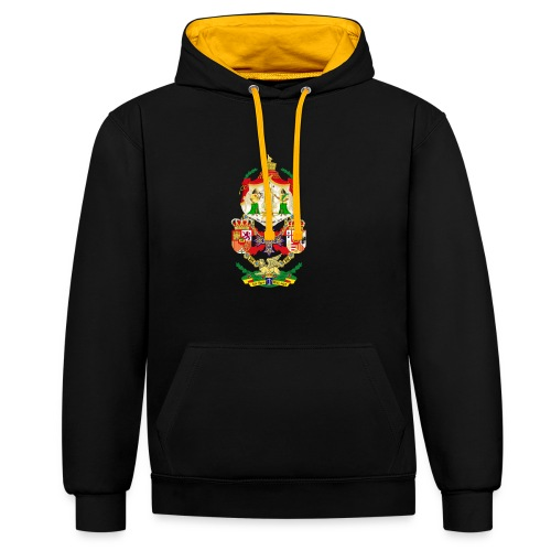 Ethiopian Empire - Coat of Arms - Hoodie - Kontrast-Hoodie