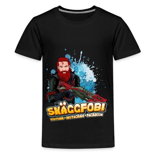 Skäggfobi Kids - Premium-T-shirt tonåring