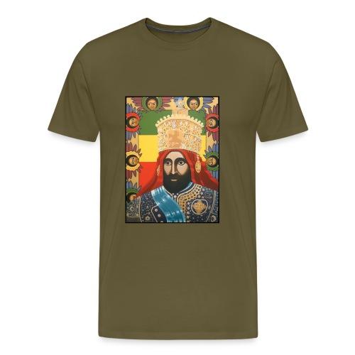 Haile Selassie I - Jah Rastafari Art - Shirt - Männer Premium T-Shirt
