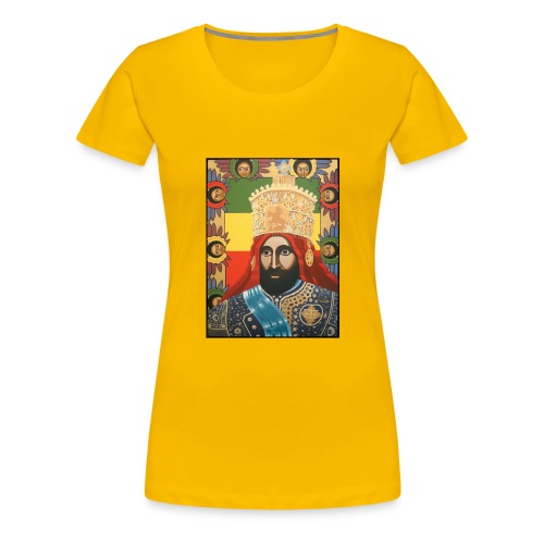 Haile Selassie I - Jah Rastafari Art - Shirt - Frauen Premium T-Shirt