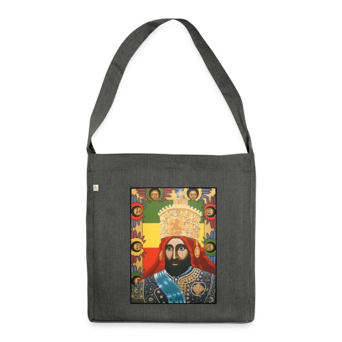 Haile Selassie I - Jah Rastafari Art - Bag - Schultertasche aus Recycling-Material