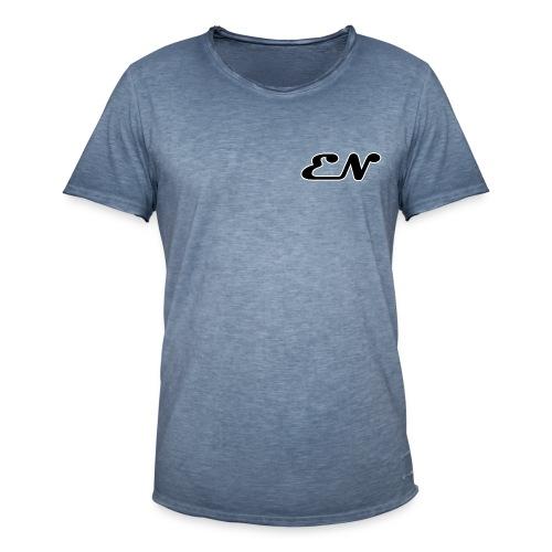 T-Shirt vintage unisex con logo EN  - Maglietta vintage da uomo