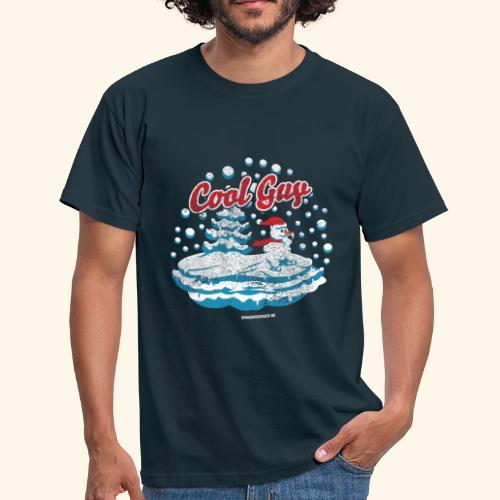 Apres Ski T Shirt cooler Schneemann beim Wintersport - Männer T-Shirt