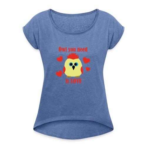 C'est la Chouette - T-shirt à manches retroussées Femme
