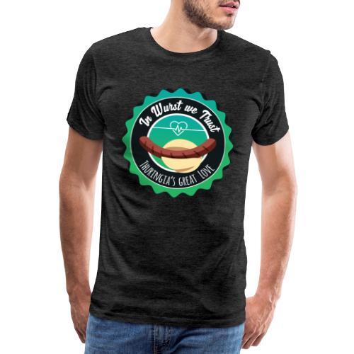 Premium T-Shirt – In Wurst we Trust (Kerle) - Männer Premium T-Shirt