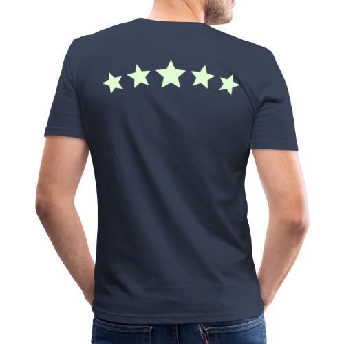 6Bulle Original Star 'Fluo la nuit' / T-Shirt coupe droite - T-shirt près du corps Homme