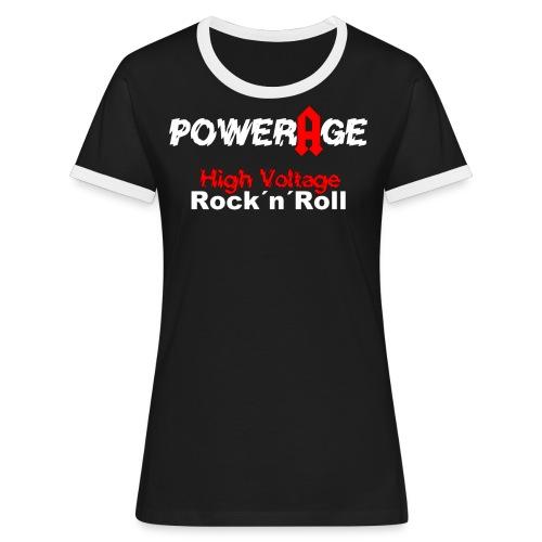 High Voltage - Frauen Kontrast-T-Shirt