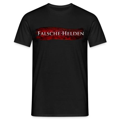 Falsche Helden - Logo-Rot - Männer T-Shirt