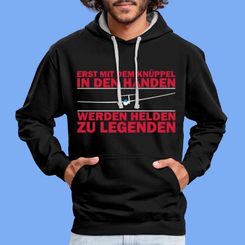 Segelflieger T-Shirt Geschenkidee Geburtstag Helden Legenden - Contrast Colour Hoodie