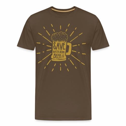 Save Water - Männer Premium T-Shirt