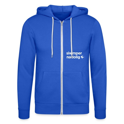 Cardiff City FC - Siwmper Nadolig (Women's) - Unisex Hooded Jacket by Bella + Canvas