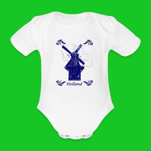Molen De Gooyer Amsterdam rompertje - Baby bio-rompertje met korte mouwen
