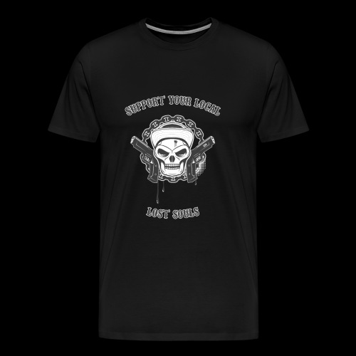 SYL Lost Souls skull with guns shirt - T-shirt Premium Homme