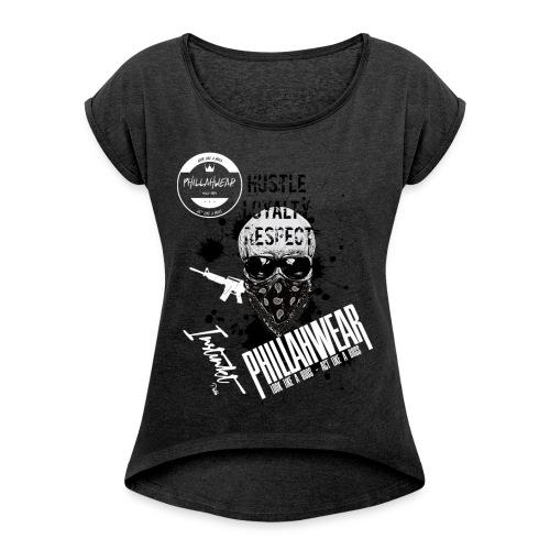 Phillahwear Premium Girl - Frauen T-Shirt mit gerollten Ärmeln