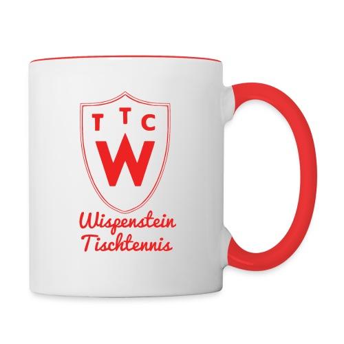 Tasse Wispenstein Tischtennis rot/weiß - Tasse zweifarbig