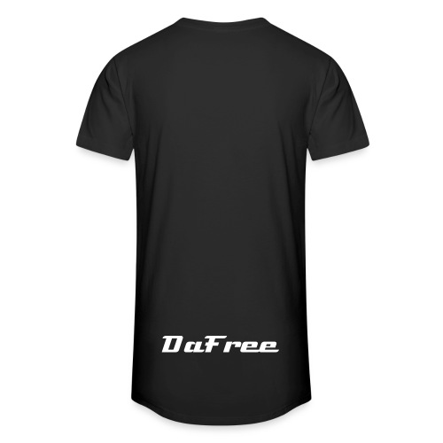 long tshirt with logo and text (on the back) - Men's Long Body Urban Tee