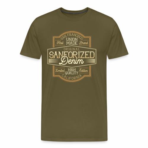 Sanforized Denim - Männer Premium T-Shirt