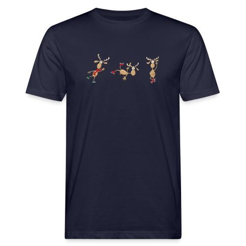 3 Elche - Männer Bio-T-Shirt  - Männer Bio-T-Shirt