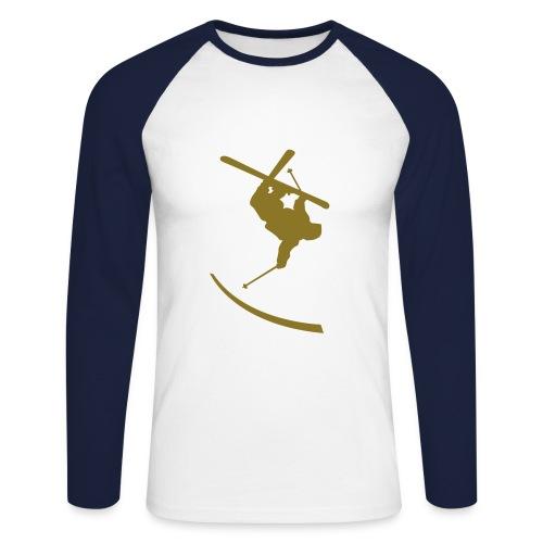 Mannen baseballshirt lange mouw