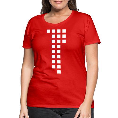 1893 Squares red Jasi-Style / Girls - Frauen Premium T-Shirt