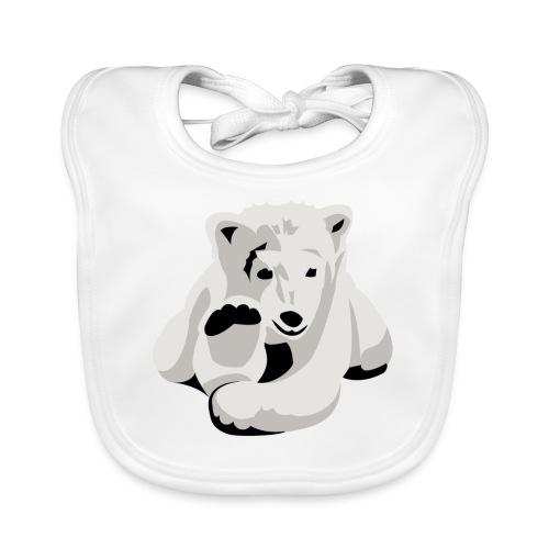 Bären-Motiv auf Baby-Lätzchen - Baby Bio-Lätzchen