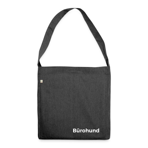 Bürohund Tasche Grau - Schultertasche aus Recycling-Material