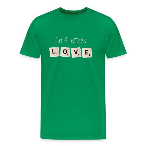 Tee-shirt Scrabble Love blanc - T-shirt Premium Homme