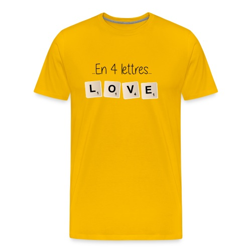 Tee-shirt Scrabble Love noir - T-shirt Premium Homme