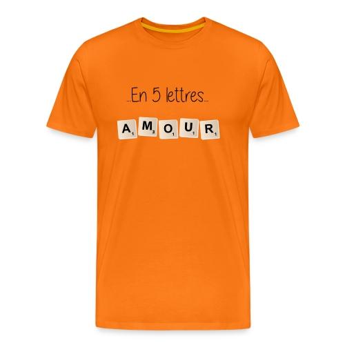 Tee-shirt Scrabble Amour noir - T-shirt Premium Homme