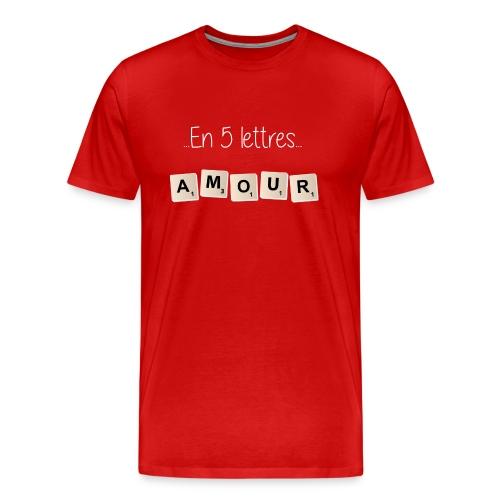 Tee-shirt Scrabble Amour blanc - T-shirt Premium Homme