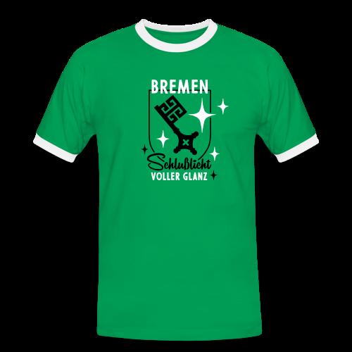 Bremen – Schlußlicht voller Glanz - Männer Kontrast-T-Shirt