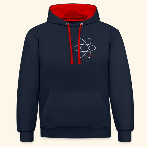 Nuclear LG (Blue and red) - Contrast Colour Hoodie
