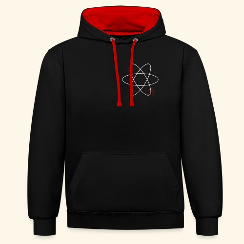 Nuclear LG (Black and red) - Contrast Colour Hoodie