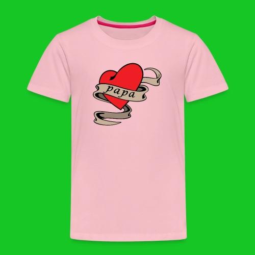 I love papa kinder t-shirt - Kinderen Premium T-shirt