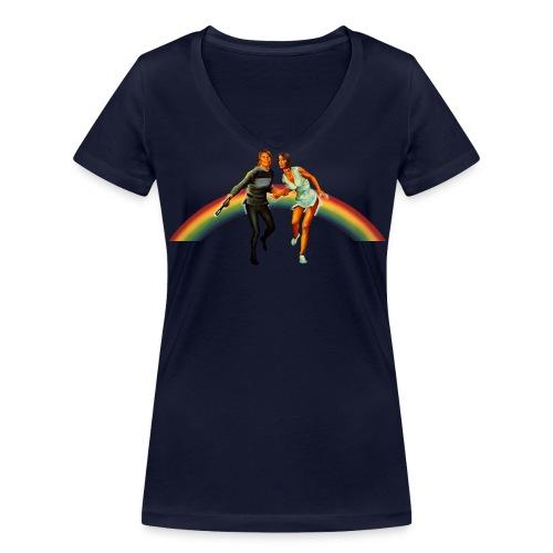 Flucht mit Dora ins 23. Jahrhundert - Frauen Bio-T-Shirt mit V-Ausschnitt von Stanley & Stella