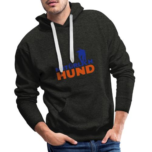 Natürlich-Hund Männer Hoodie (Anthrazit) - Männer Premium Hoodie