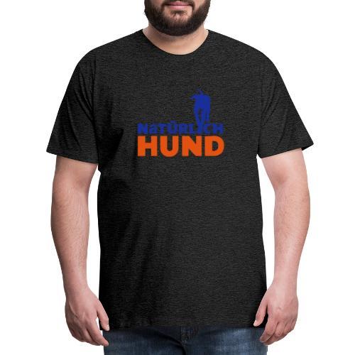 Natürlich-Hund Männer Premium T-Shirt (Anthrazyt) - Männer Premium T-Shirt