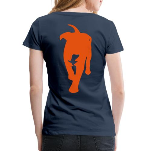 Natürlich-Hund Frauen Premium T-Shirt (Navyblau) - Frauen Premium T-Shirt