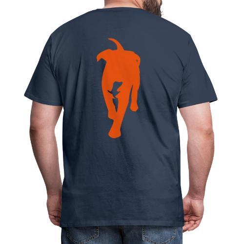 Natürlich-Hund Männer Premium T-Shirt (Navyblau) - Männer Premium T-Shirt