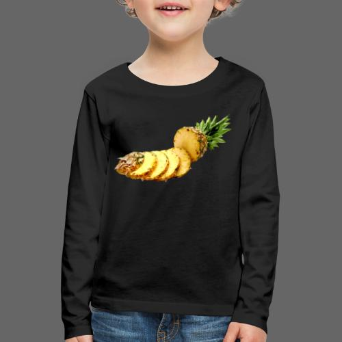 Ananas - Børne premium T-shirt med lange ærmer